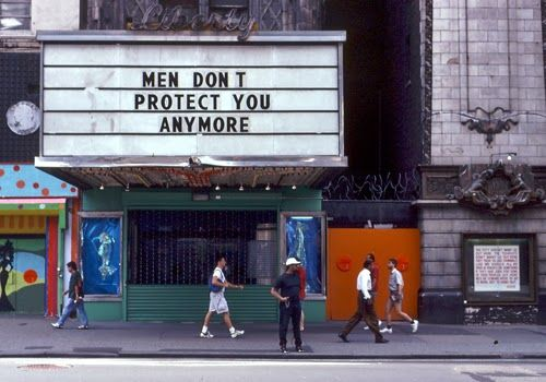 text on NY cinema: Men don't protect you anymore